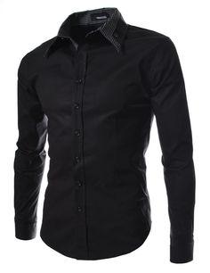 2015 Brand Mens Dress Shirts Men Double Collar Slim Fit Long Sleeve Shirt Camisa Masculina Casual Shirts Good Quality Size:M-XXL