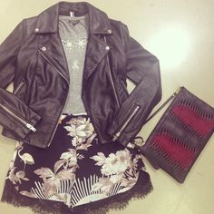 Uploaded by Nordstrom. Find images and videos about fashion, cute and flowers on We Heart It - the app to get lost in what you love. Nordstrom, Leather Jacket, Shorts, Cute, Jackets, Instagram, Fashion, Studded Leather Jacket, Down Jackets