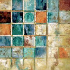 color palettes Star Creations Gridlock by Nan Painting Print on Canvas Colour Pallette, Colour Schemes, Paint Schemes, Painting Quotes, Painting Prints, Paintings, Canvas Wall Art, Canvas Prints, House Canvas