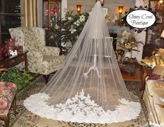 Hey, I found this really awesome Etsy listing at https://www.etsy.com/listing/256869705/lace-wedding-veil-cathedral-wedding-veil