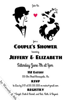 DIY Printable Couples Wedding Shower Invite by Waverlyand8th, $15.00