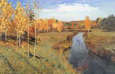 Isaac Levitan - Golden Autumn 1895