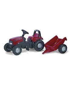 CASE Kid Tractor & Trailer Ride-On by Kettler International #zulily #zulilyfinds