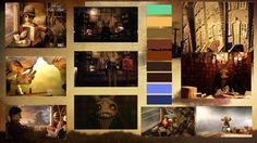 production designer anne siebel mood board for road. Black Bedroom Furniture Sets. Home Design Ideas