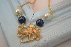 nautical octopus necklace