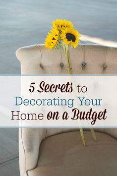 Want to turn your living space into a home but you're short on funds? Here are 5 secrets to decorating your home…