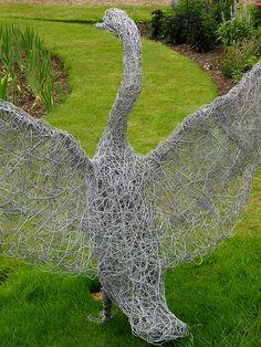 Garden Art   Wire Swan Iu0027m Discovering Wire Sculpture.