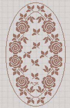 Kira scheme crochet: Scheme crochet no. Cross Stitch Rose, Cross Stitch Borders, Cross Stitch Flowers, Cross Stitch Patterns, Lace Patterns, Easy Crochet Patterns, Tapestry Crochet, Crochet Motif, Filet Crochet Charts