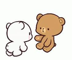 Cute Bunny Cartoon, Cute Couple Cartoon, Cute Cartoon Pictures, Cute Love Cartoons, Cute Love Memes, Cute Love Gif, Cute Hug, Cartoon Gifs, Cute Cartoon Wallpapers
