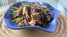 At Home with Vicki Bensinger » Black Quinoa Asian Slaw