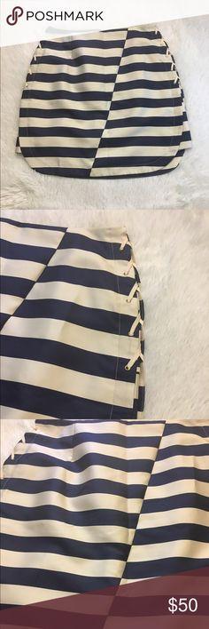 Maeve Striped Navy/ Cream Skirt Sz S Anthropologie Maeve Striped Navy/ Cream Skirt Sz S Anthropologie Anthropologie Skirts