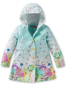 Take a look at this Blue Happy Jungle Callao Rain Jacket - Infant, Toddler & Girls by Oilily on today! Little Girl Fashion, Kids Fashion, Kids Dress Patterns, Baby Fashionista, Blue Garden, Girl Outfits, Fashion Outfits, Kids Coats, Girls Wear