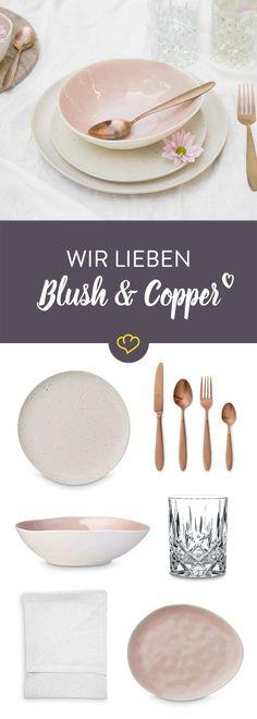 Mamor, Blush & Kupfer - so decken Fashionistas ihren Tisch!