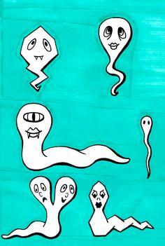Desenho do Dia #97 - Espermatozóides Acidentais - Soraia Casal