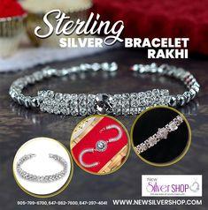 Shop #SterlingSilverBraceletRakhi for your Sweet #Brother only at #NewSilverShopandJewellers. Do not be late otherwise your preferable #SilverRakhi / #SilverBracelet would be purchase by someone else.  Ph: 905-799-6700, 647-862-7600, 647-297-4041  #SterlingSilverBracelet #SterlingSilverRakhi #SilverBraceletRakhi #Bracelet #Rakhi #Brampton #Ontario #Canada #SilverJewellery #Silver #Bracelets #NewSilverShop #SilverShop  #SilverJewellers #Jewellers #Jewelry #SpecialSilverRakhi #RakshaBandhan