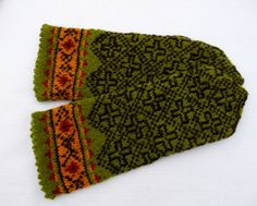 Hand knitted wool mittens knitted mittens by peonijahandmadeshop