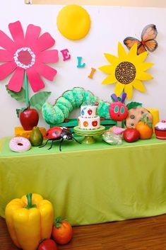 What a great Very Hungry Caterpillar birthday party! See more party ideas at CatchMyParty.com!