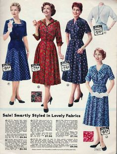 The end of the 1950's - Lane Bryant Catalog page - 1959.