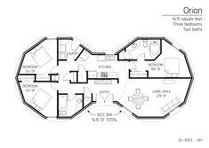 1,415 square feet Three bedrooms Two baths