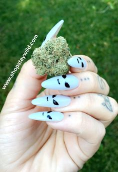 Weed and alien nails ShopStayWild.com #love #home #ideas #things #idea #marijuana #cannabis #stoned #high #cannabiscures #legalize #420 #710 #wax #shatter #glass #vape #style #ideas #ganja #kush #cbd #bath #smoke #bongbeauties #alien #ganjagirls #potpri