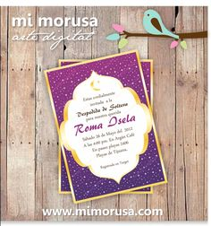 Starry Arabian Nights Party Invitation stars magical birthday