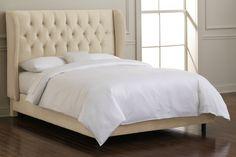 skyline furniture king wingback bed...very reasonable price!