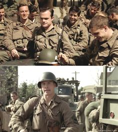 """Tom Hardy: """"He was a really serious method actor and we used to watch him and think, 'F--k, man! He's the s--t!'"""". """"He was in an Irish play about a guy who came back from the WWI who was a great athlete but ended up in a wheelchair, but at lunchtime he wouldn't come out of character and was always in his wheelchair and we'd be like, 'Just order your lunch and come along!'"""" Hardy laughs and adds, """"But he was the best actor in the school."""" Both got their start in Band of Brothers."""