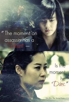 The Oracle Min Jiha's warning to Yeun (book 2/3). I'm starting to suspect that Jiha will be very much a motherly/sisterly figure to Yeun, since she was around at the Syndicate roughly when he was taken in. (edited by me, please credit if re-pinned)
