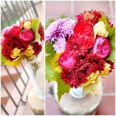 Backyard flowers bouquet