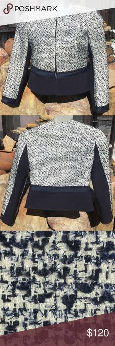 Tory Burch blazer 8 Silk/poly/rayon/cotton/elastane, clasp closure Tory Burch Jackets & Coats Blazers