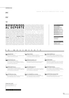 MARATÓN. PUBLICACIÓN DEPORTIVA by julia ferrando, via Behance