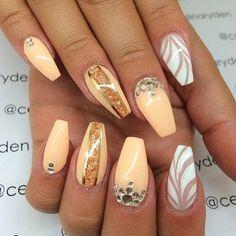 Beige Nails #celinaryden #negativespace #nailart