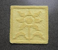 SUNFLOWER Knit Dishcloth. Hand Knitted Unique by AuntSusansCloset, $6.50
