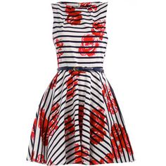 white floral dress - love the bold florals and navy stripes  dorothy-perkins.com