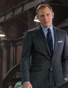 24 Ideas for wedding suits men grey daniel craig James Bond Suit, Bond Suits, James Bond Style, Grey Pinstripe Suit, Grey Suit Men, Grey Suits, Dark Gray Suit, Daniel Craig, Suits You Sir