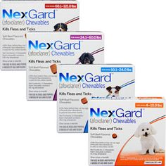 Introducing NexGard - The Next Generation Tick & Flea Tablet for Dogs The newest defense against ticks and fleas are here. From the makers of Frontline Plus – Introducing Merials NexGard.NexGard is an over the counter, chewable tablet containing Afoxolander and is only available from veterinary practices. It will last for one month and is available for dogs ... http://www.vet-portshepstone.co.za/introducing-nexgard-the-next-generation-tick-flea-tablet-for-dogs/
