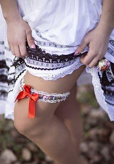 Wedding folk dress with folk garter Garter, Traditional Outfits, Folk, Lingerie, Inspiration, Dresses, Wedding, Fashion, Biblical Inspiration