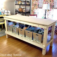 love the work table -- especially the shelf underneath!