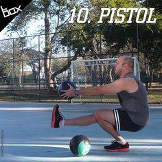 Os Pistols exigem uma grande dose de força, equilíbrio e flexibilidade, por isso, existem diversas progressões para chegar ao movimento perfeito. Para fazê-lo, você pode jogar a perna para frente (se a sua flexibilidade permitir), ou então levemente para o lado. O importante é quebrar a paralela e subir sem encostar o pé que está no ar no chão.