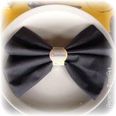 marque-places rond de serviette - thème ''moustache''