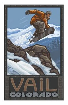 Vail Snowboarder 18x24 Poster