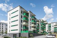 Fasad. Skagafjordsgatan 10, 3 tr, Kista gård, Stockholm - Fastighetsförmedlingen för dig som ska byta bostad #nytthem #boende #lägenhet #kista