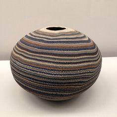 blueafternoon: Matsui Kosei (1927-2003), Large Jar (1978) - neriage technique (marbled patterns)