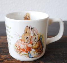 Wedgwood Benjamin Bunny Children's Mug Cup My Coffee, Coffee Cups, Tea Cups, Childrens Mugs, Tam O' Shanter, Benjamin Bunny, Peter Rabbit, Beatrix Potter, Wedgwood