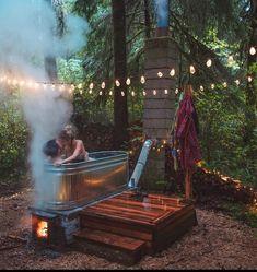 DIY Hot tub goals Photo by - Women Trends Outdoor Bathtub, Outdoor Bathrooms, Sara Underwood, Stock Tank Pool, Garden Tub, Outdoor Living, Outdoor Decor, Sauna, Tiny House