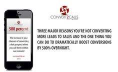 An automated Lead Response solution that connects your business with promising leads within seconds.  http://www.convert2calls.com/