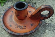 Halloween decorations Primitive Witch Candle holder candles holders witches halloween wiccan | SleepyHollowPrims - Seasonal on ArtFire $16.63