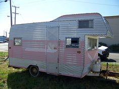 Pink 1961 Terry Travel Trailer Camp Trailer Vintage