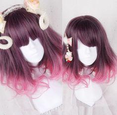 Kawaii Hairstyles, Pretty Hairstyles, Wig Hairstyles, Cosplay Hair, Cosplay Wigs, Kawaii Wigs, Lolita Hair, Anime Wigs, Red Wigs