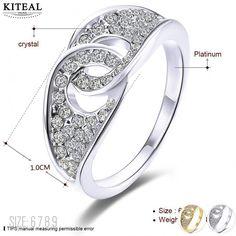 Kiteal Винтаж любовь Золотой цвет желтый/белый цвет белый Размер 6 7 8 9 кольца для женщин личности anillos персонализированные